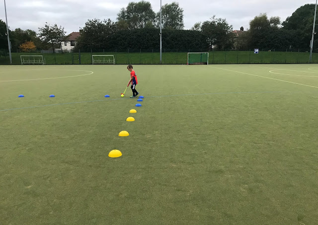 Hockey Heroes lesson at the Parks North Shields