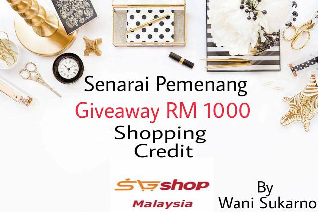 Akhirnya Terpilih Sebagai Pemenang Giveaway SGShop Shopping Credit By Wani Sukarno