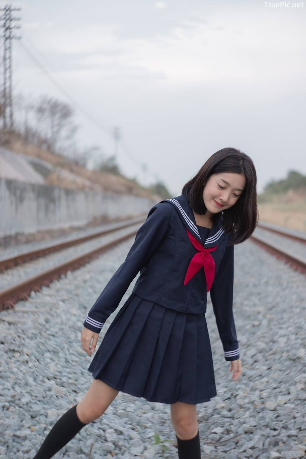 Hot girl Thailand Purewarin Kosiriwalanon - Cosplay Little Playful School Girl - Picture 14
