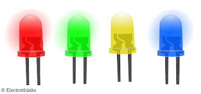 5mm red, green, yellow, blue LED diodes