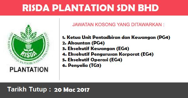 Jawatan Kosong di Risda Plantation Sdn Bhd