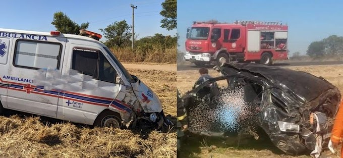 Vídeo: Acidente em Barreiras envolvendo ambulância, carreta e carro de passeio deixa 5 mortos na BR-242