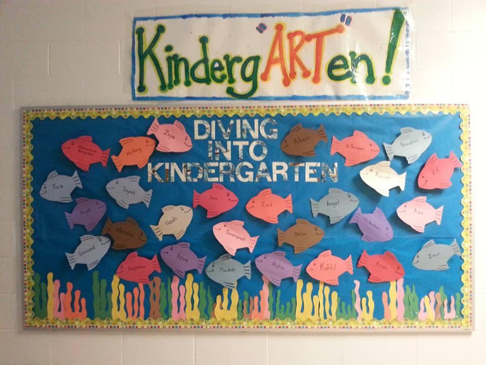Teacherself Bulletin Board Diving Into Kindergarten