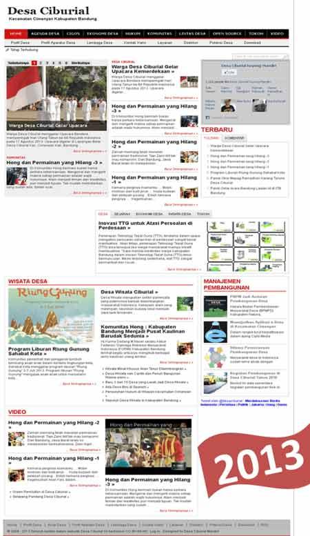 website-desa-ciburial-tampilan-2013