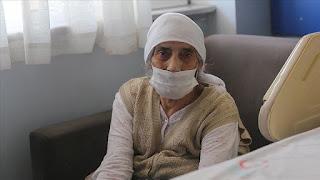 تبلغ 107 أعوام.. معمرة تركية تهزم كورونا(فيديو)