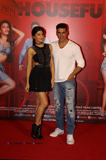 Jacqueline Fernandez with Akshay Kumar at launch of Housefull 3 movie 1st song Taang Uthake
