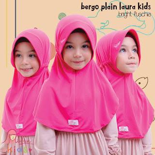 jilbab anak miulan bpl kids bright fushia