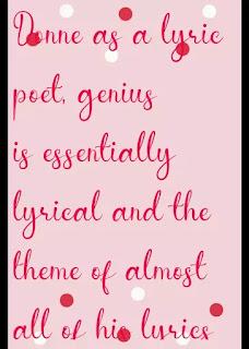Donne as a lyric poet