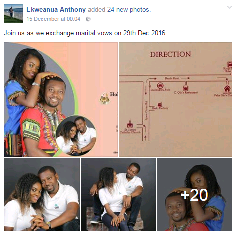 Man canclls  his wedding 2 days to the ceremony because his bride-to-be allegedly cheated (Photos)