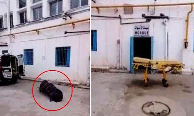 أريانة جثمان مصابة بـ كورونا ملقى أمام المستشفى : مدير الصحة يوضّح (بالفيديو) !!