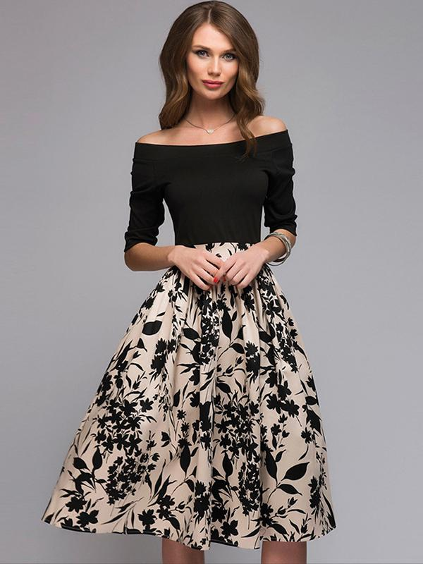 https://www.dressab.com/collections/party-dresses/products/sexy-floral-off-shoulder-slash-neck-3-4-sleeve-sheath-dress