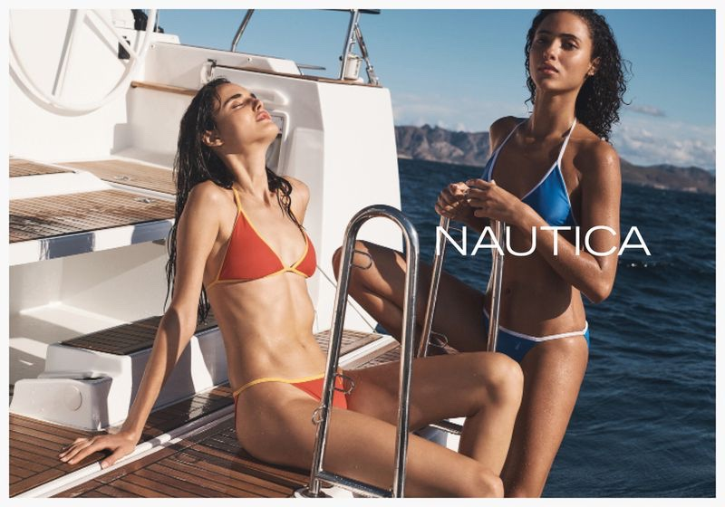 Blanca Padilla and Melodie Vaxelaire sport bikinis in Nautica spring-summer 2020 campaign