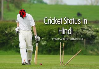 cricket status in hindi, love cricket status