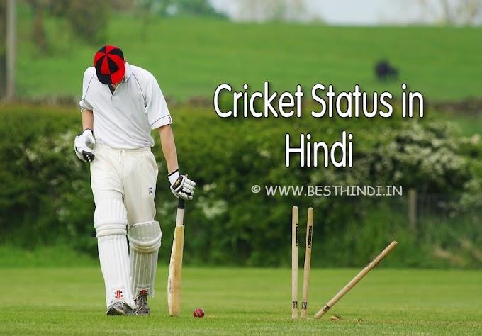 Cricket Status in Hindi | क्रिकेट स्टेटस हिंदी में