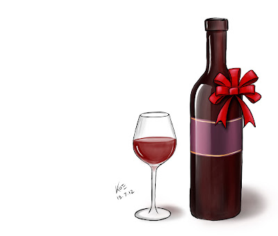 Wine - Glass and Bottle