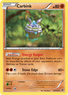 Carbink Fates Collide Pokemon Card