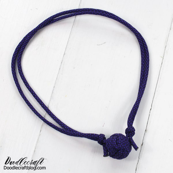 Turn one into an adjustable necklace too! This can be a loose necklace or tighten like a choker.