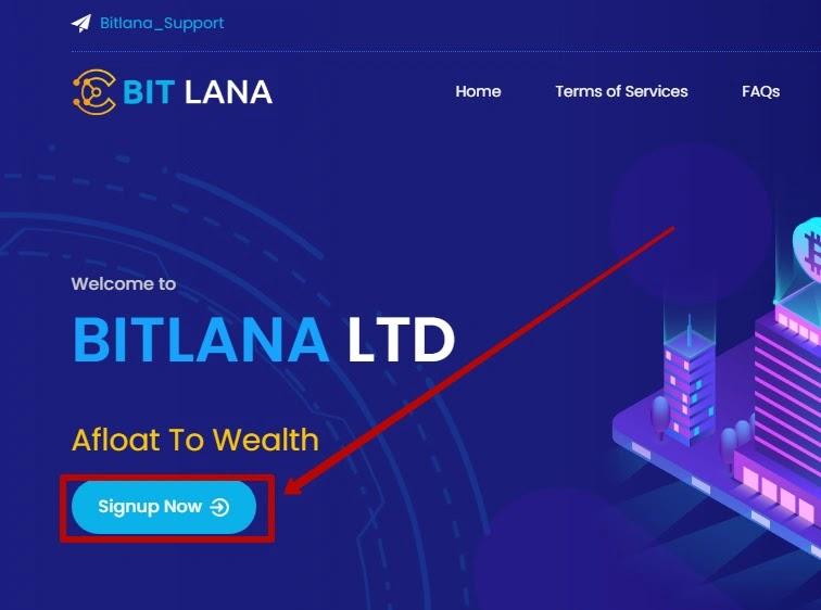 Регистрация в BitLana
