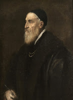 Self-Portrait (c.1567) of mannerist painter Titian (know as Tiziano Vecelli), master of Simone Peterzano