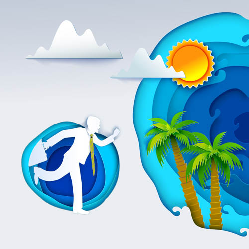 Travel theme illustration vector illustration