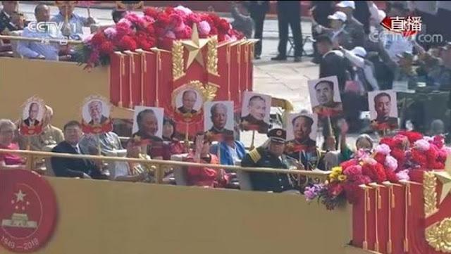 """中国十一大阅兵队伍中的""""红二代方队""""部分阵容"""