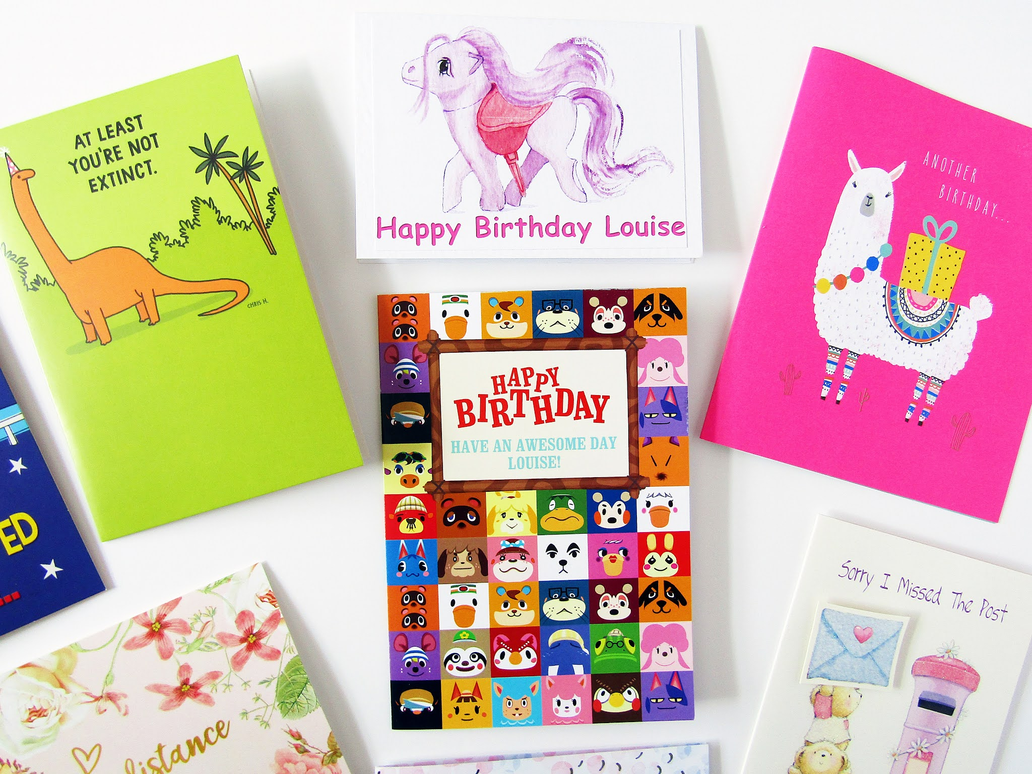 A photo of birthday cards