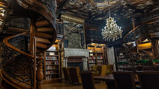 lavish library in Budapest
