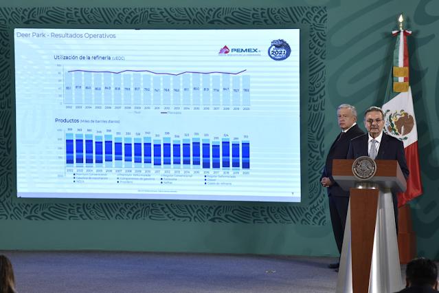 Con Deer Park PEMEX producirá en el corto plazo los combustibles que se requieren en México