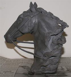 clay horse head sculpture, clay sculpture demo, horse sculpture tutorial