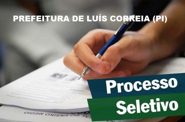 Prefeitura de Luís Correia/PI realiza teste seletivo com mais de 200 vagas.