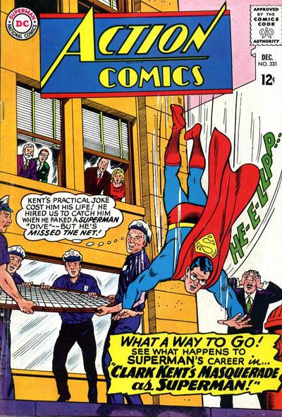 Episode #390 Part III: Superman Comic Book Cover Dated December 1965: Action Comics #331!