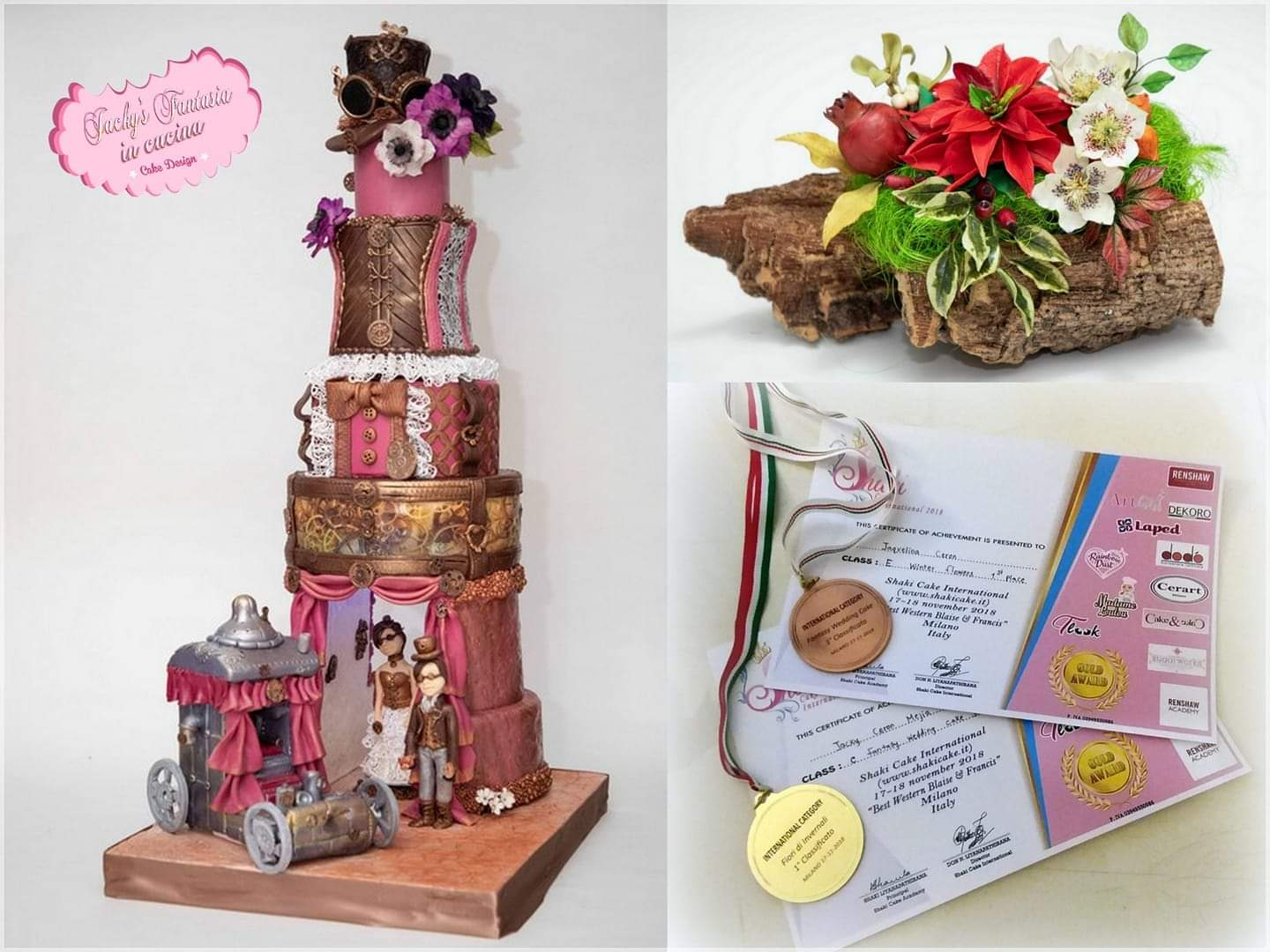 Shaky international cake design  2018