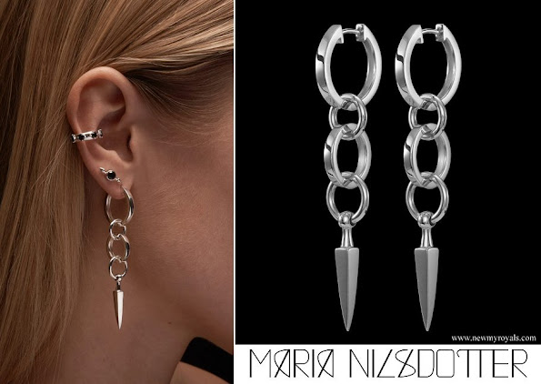 Princess Sofia wore Maria Nilsdotter Chaos Queen Earrings