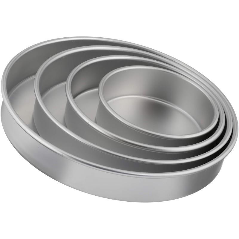 WALMART - 4-Piece Wilton Performance Pans Tierd-Cake Aluminum Pan Set