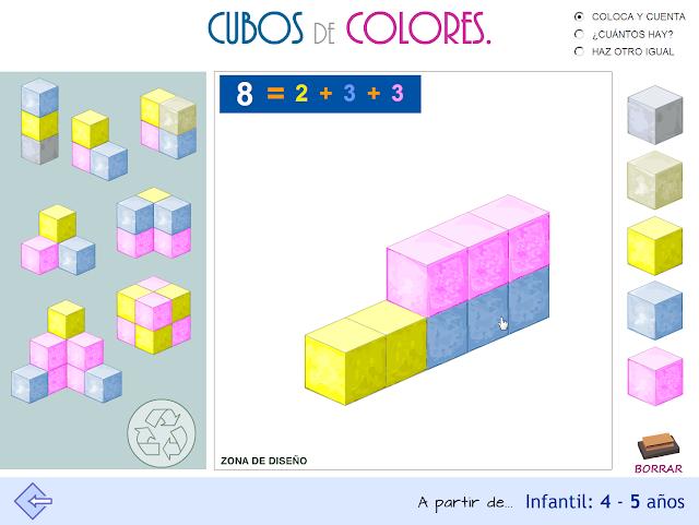 Cubos de colores. Proyecto MATE.TIC.TAC.