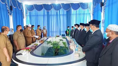 Sebanyak  11 Pejabat Administrator Pemkab Pasbar Dilantik