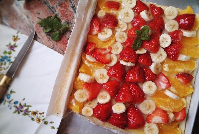 5 postres saludables con plátanos ¡en tiempo récord!, tarta hojaldre con plátano