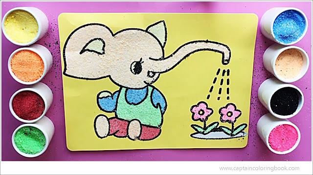 Elephant Sand Painting