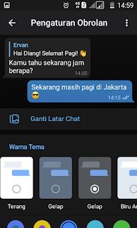 Mode Gelap Telegram