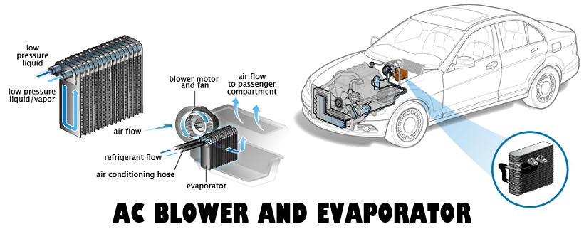 AC Blower and Evaporator