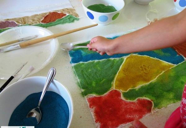 colored sand art ideas