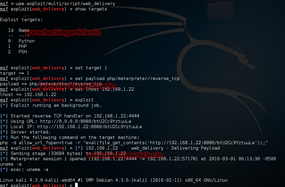 Exploit Remote Linux PC using PHP File