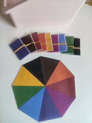 boîte de couleurs montessori n° 3 nuancier apprendre les couleurs