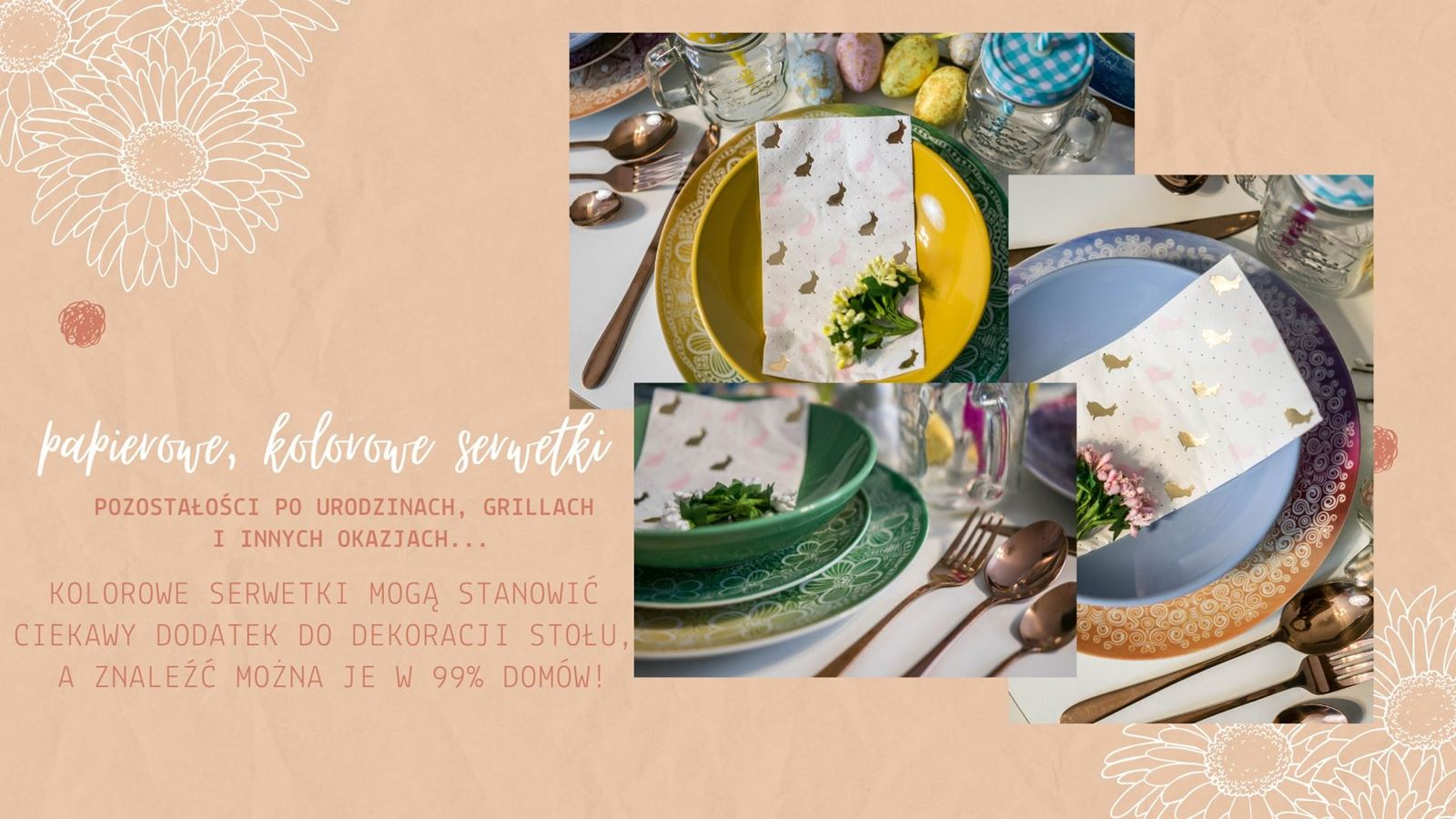 5 dekoracje wielkanocne diy jak udekorować stół wielkanocny bez wydawania pieniędzy kolorowe dodatki na wiosnę jak urządzić mieszkanie na wiosnę wiosenne dodatki do wnętrz tanie