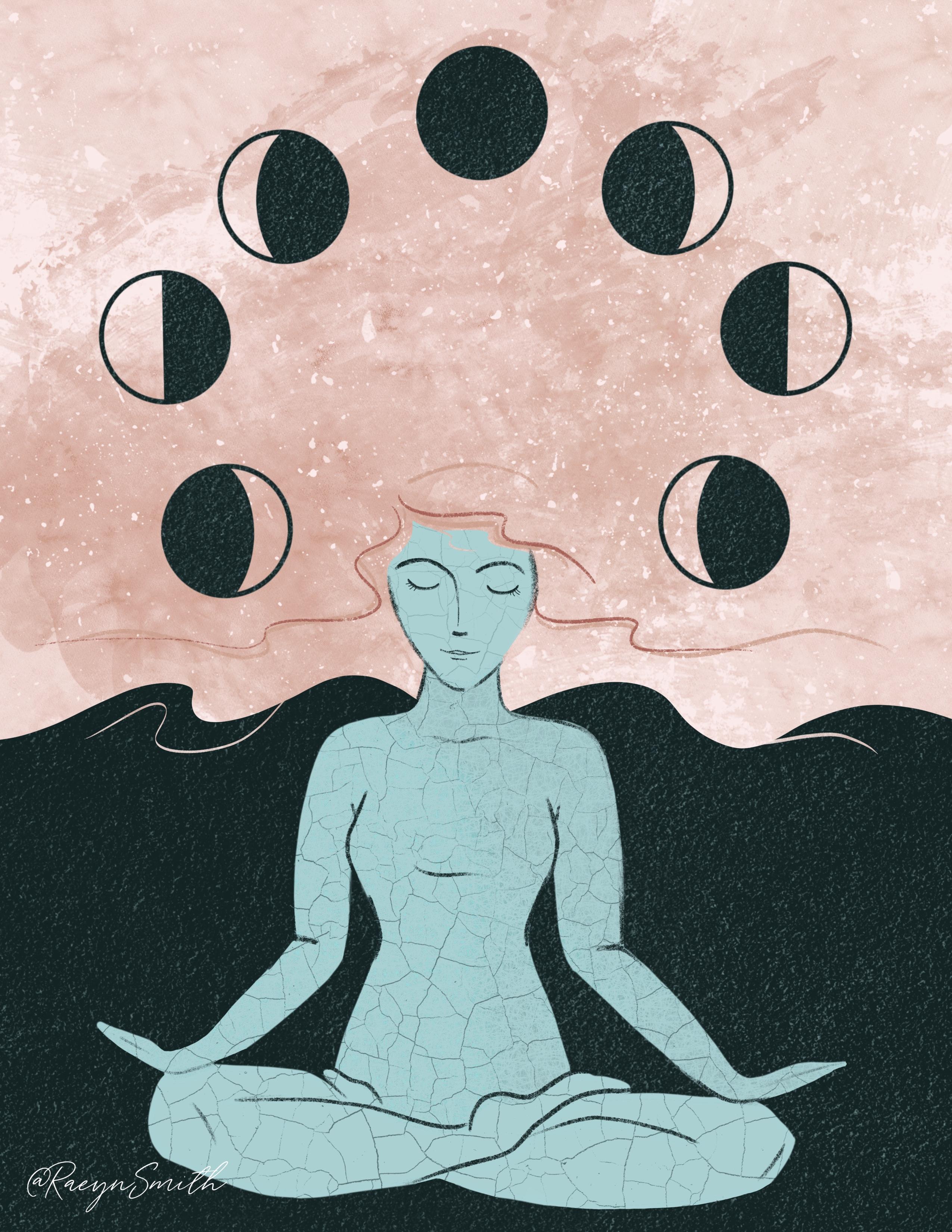Moon Phase Mediation by Raeyn Smith