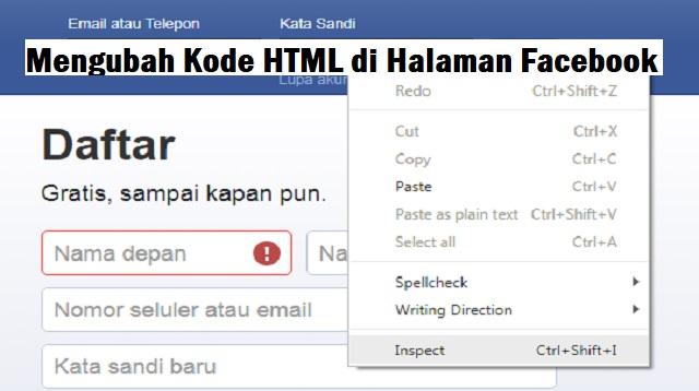 Cara Melihat Kata Sandi Facebook Orang Lain dengan HTML