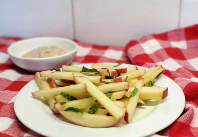 Apple Fries with Mint