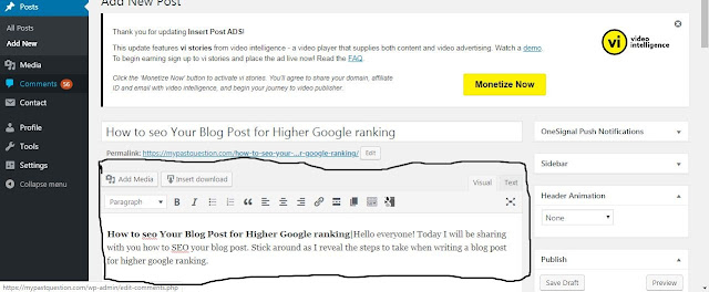 How to SEO your blog post for higher google ranking