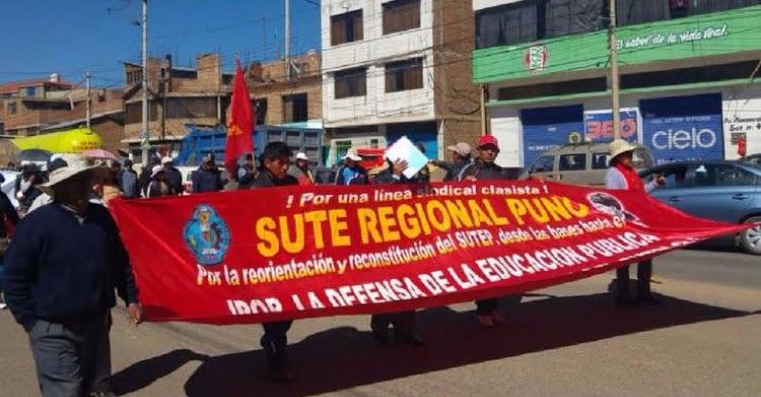 Docentes de Puno se unen al paro convocado para este martes 26 de Noviembre