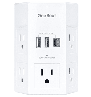$12, One Beat Surge Protector USB Wall Charger